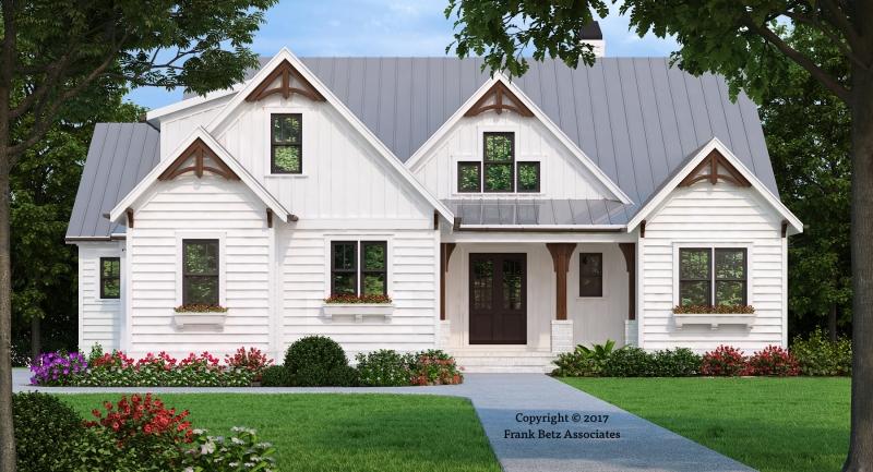 Hickory Flat | White Farmhouse | Frank Betz Floor Plan