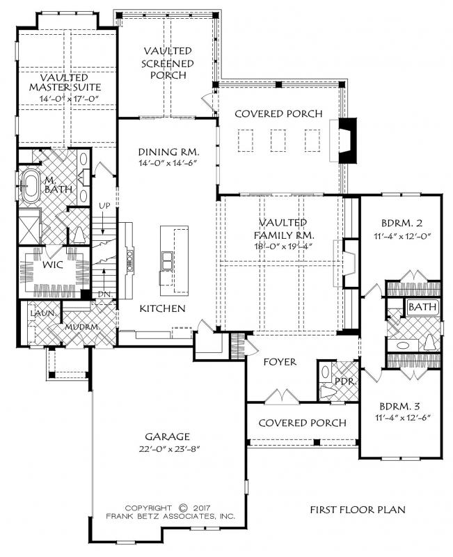 White Farmhouse | Frank Betz Floor Plan