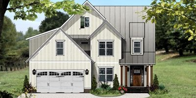 White Farmhouse Homes with First Floor Master | Chapel Hill Builders