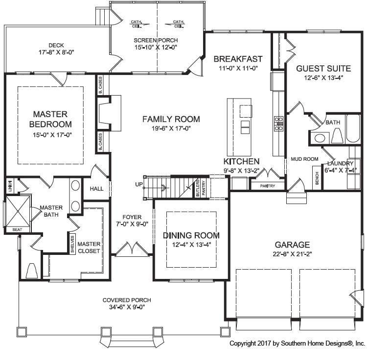 Modern Farmhouse Floor Plan | Pittsboro New Home Builder