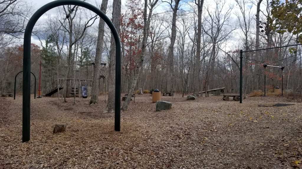 Exercise and play area at Rock Ridge Park