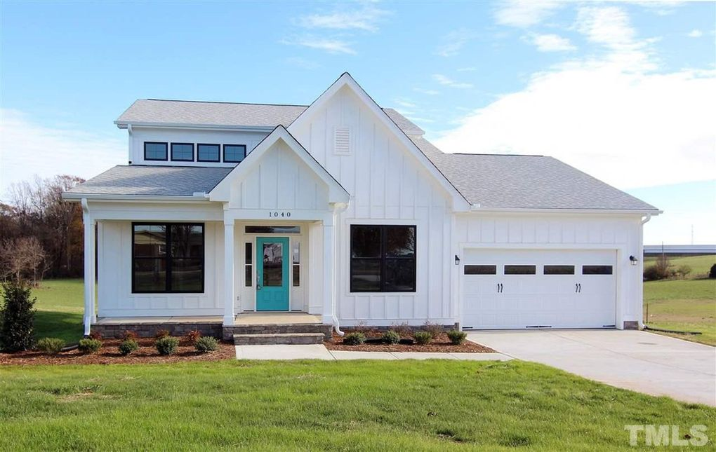 Modern farmhouse built in Chatham County NC, the Rodanthe has first floor master and first floor office