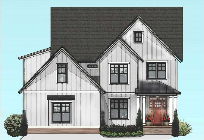 Modern farmhouse home available in The Parks at Meadowview, Pittsboro, Chatham County