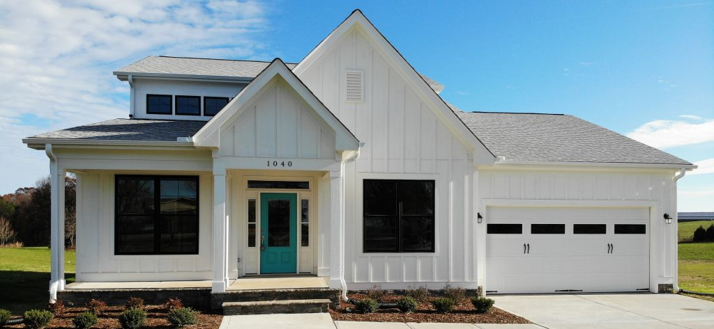 Classic Modern Farmhouse by Travars Built Homes in Chatham County