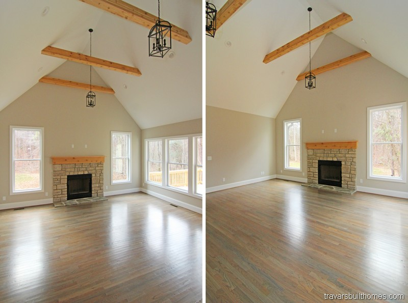 Chatham County New Homes | Beam Ceiling