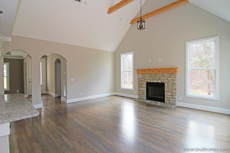Chatham County New Homes | Vaulted Living Room