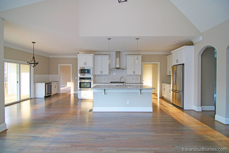 Chatham County New Homes | Kitchen Open to Living Room