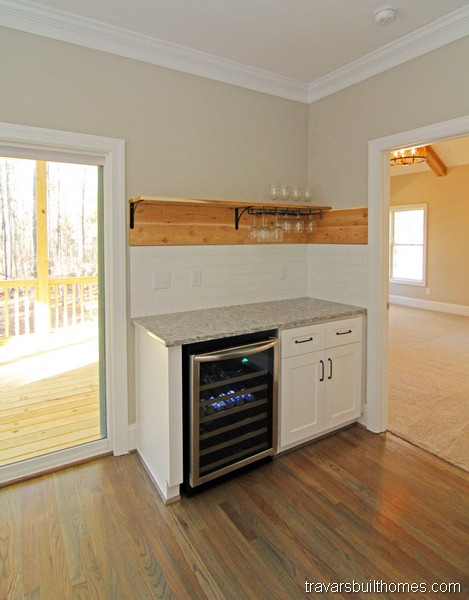 Chatham County New Homes | Kitchen Wine Bar