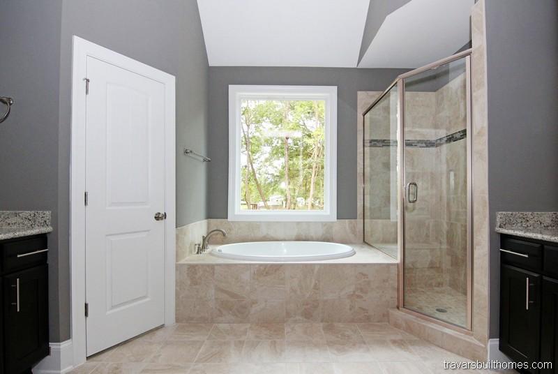 Raleigh Custom Homes | Walk in Shower