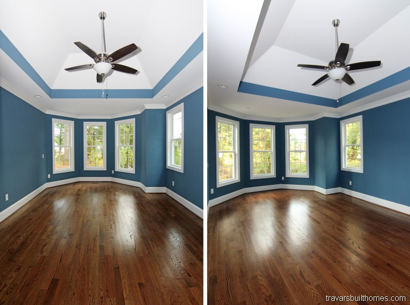 Raleigh Custom Homes | Vaulted Ceiling Owners Suite