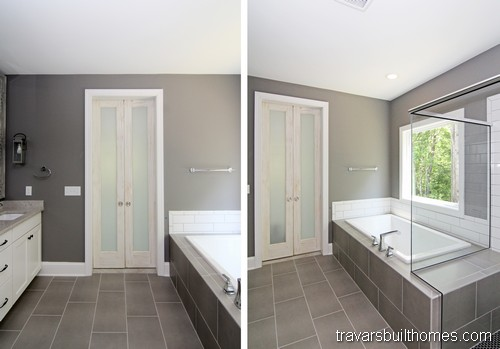 Chapel Hill Modern Farmhouse | Owners Suite Bath