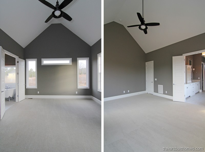 Chatham County NC Custom Homes | Vaulted Ceiling Master Bedroom