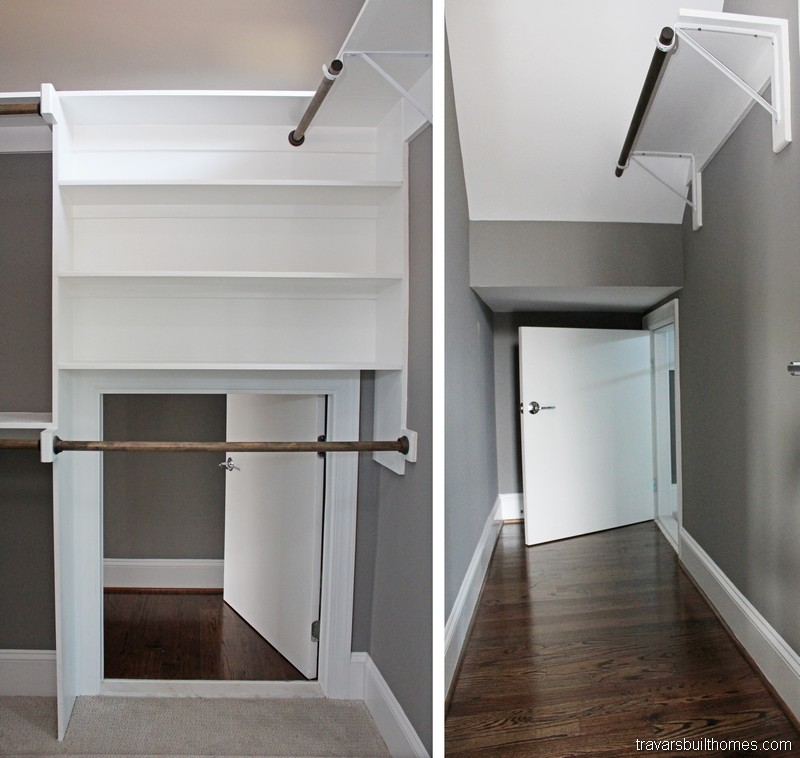 Chatham County NC Custom Homes | Secret Passage in Closet