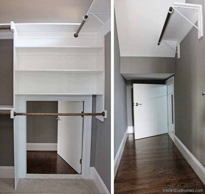 Chatham County NC Custom Homes | Secret Passage in Closet