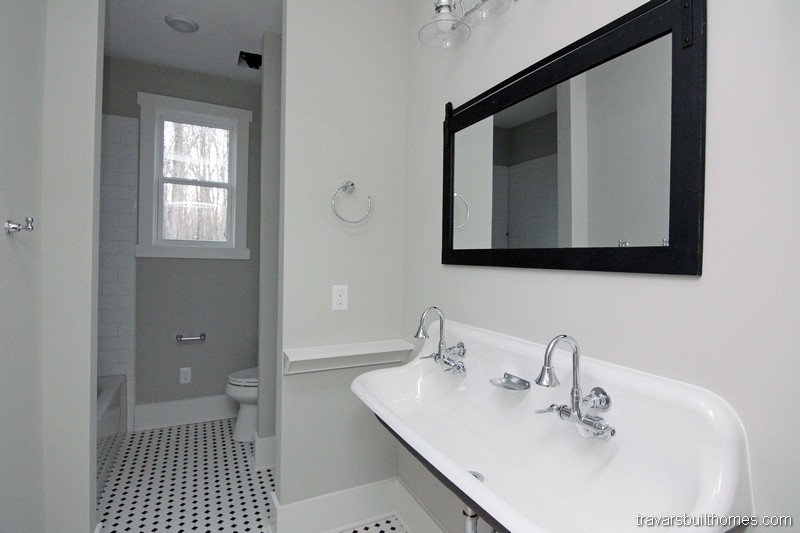 White and Black Bathrooms | Mebane NC New Homes