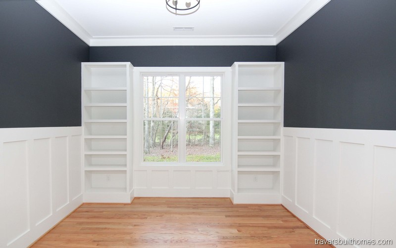 Home Office Built In Bookcases | Mebane NC New Homes