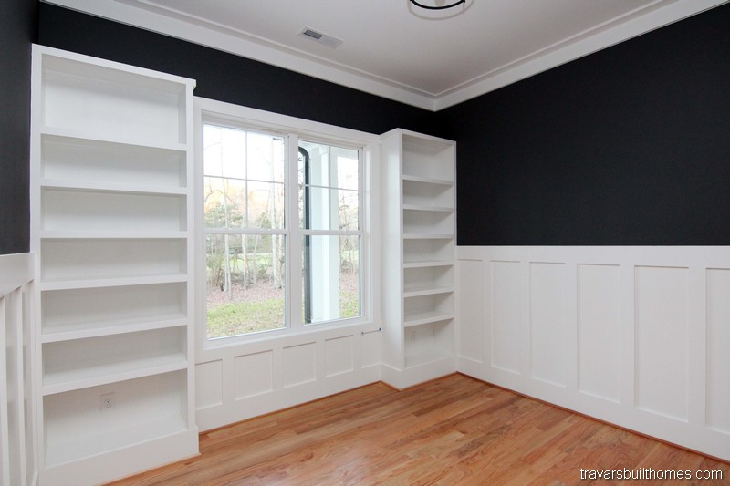 Built In Bookcase Walls | Mebane NC New Homes