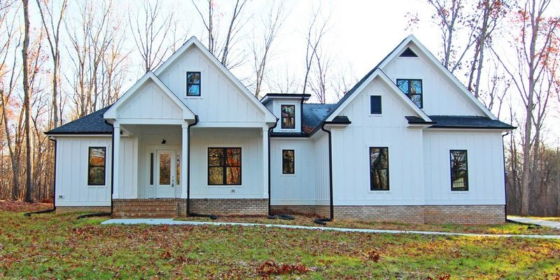 Mebane NC New Homes | White Farmhouse Exterior