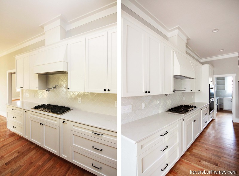 White and Black Farmhouse Kitchen | Mebane NC New Homes