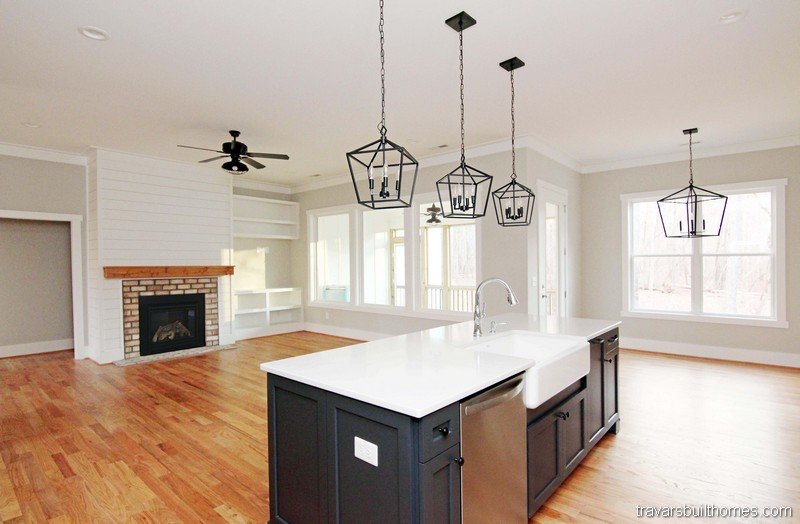Farmhouse Kitchen Island | Mebane NC New Homes