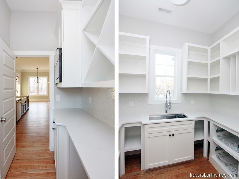 Modern Farmhouse Walk In Pantry | Mebane NC New Homes