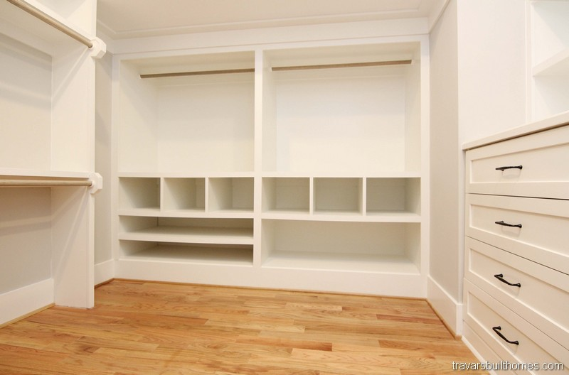 Built In Cabinets Walk In Closet | Mebane NC New Homes