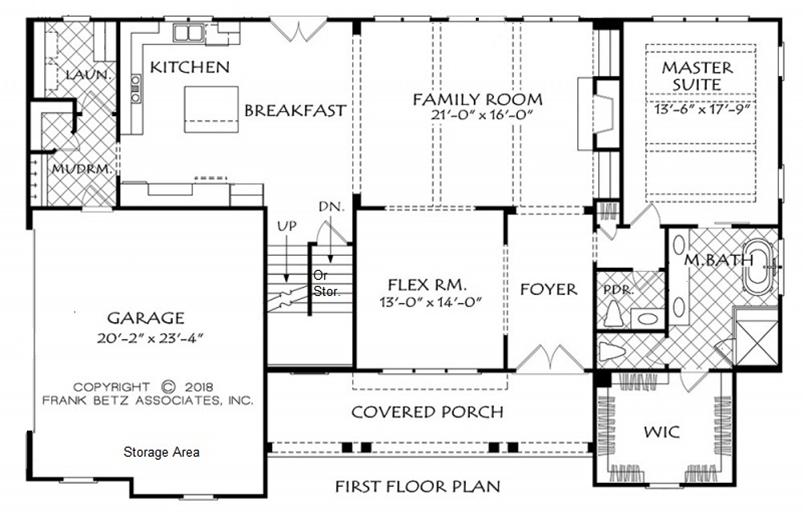 NC Custom Home Floor Plan | Downstairs Master Bedrooms Homes