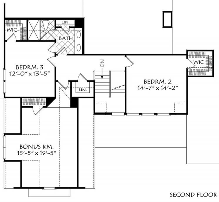 First Floor Guest Bedroom Floor Plan