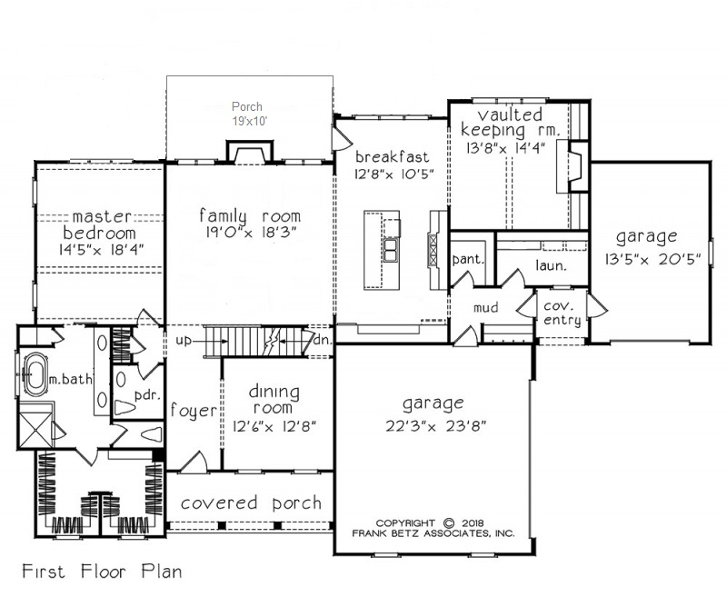 Master on the Main House Plans | Durham Custom Home Builders