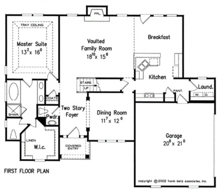 North Carolina Custom Home Builder   Custom Home Floor Plan
