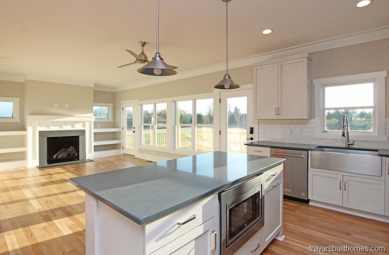 Kitchen Open to Living Room | On Your Lot Builder Chapel Hill NC