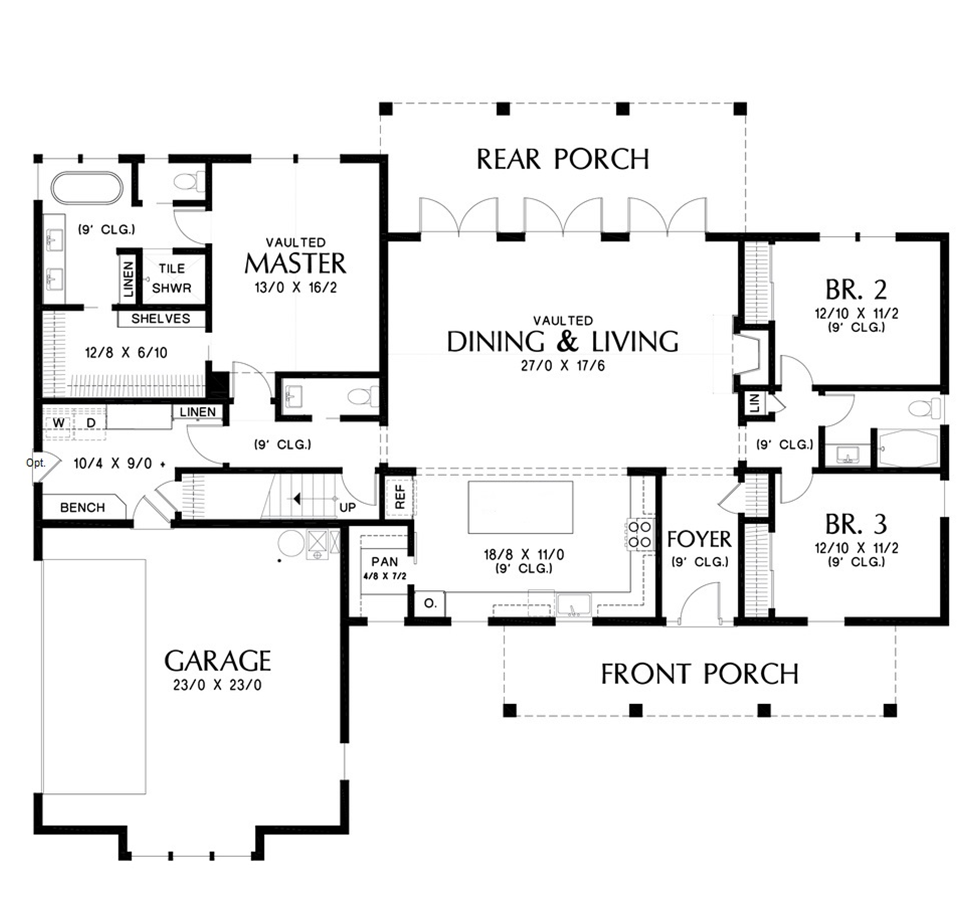 Ranch Farmhouse House Plan