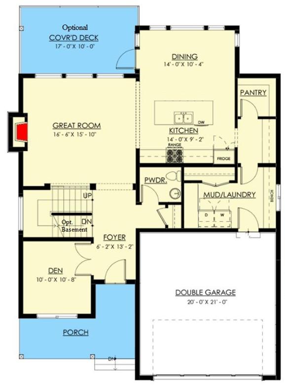 Two Story White Farmhouse Floor Plan