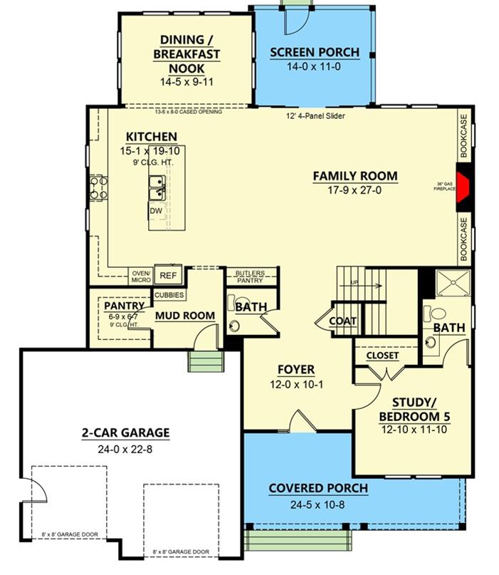 Contemporary Farmhouse with Optional Third Floor