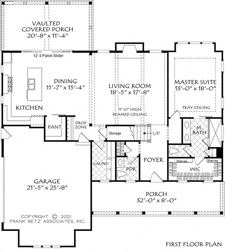 Downstairs Owner's Suite Floor Plan