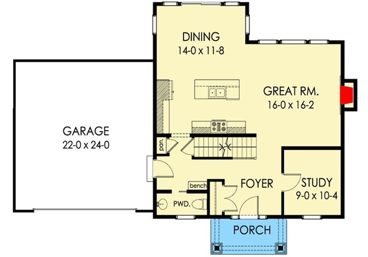 Two Story NC House Plan