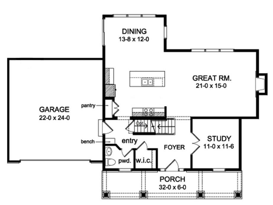 Two Story Craftsman Farmhouse Plan
