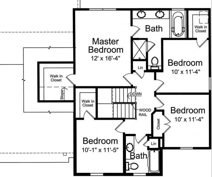 Two Story Modern Craftsman House Plan