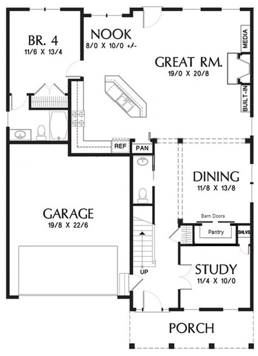 Southern Row House Plan