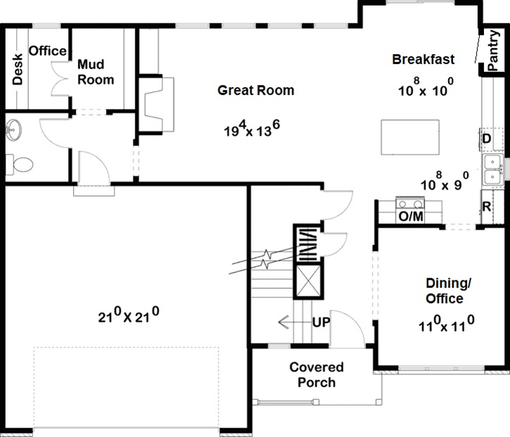 Two Story Floor Plan in NC