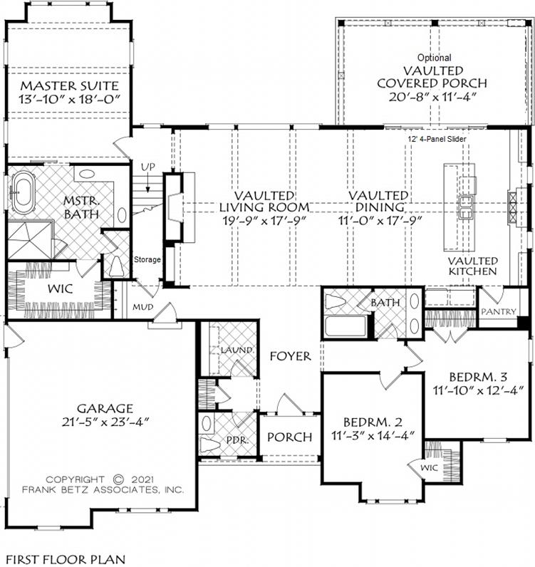 Custom Farmhouse Plan with White Exterior