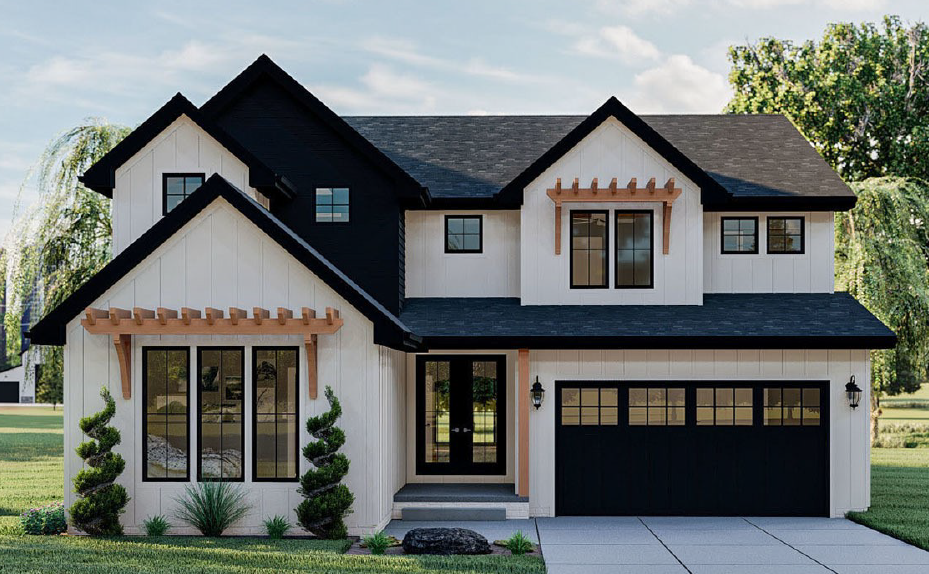 Two Story House Plan with Multigenerational Living