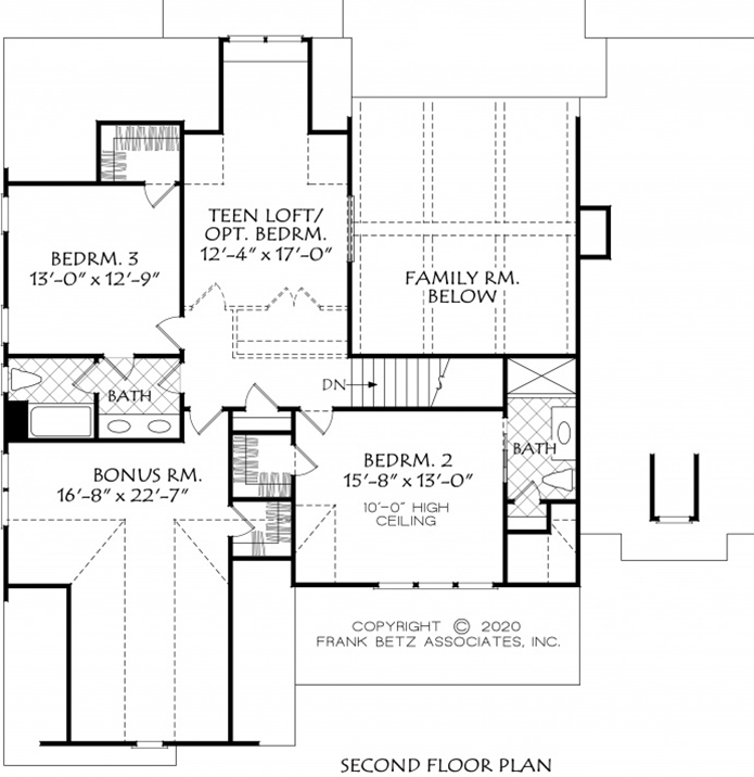 Modern Farmhouse Plan with Downstairs Master and Guest