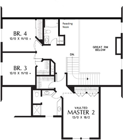 Multi-Generational Layout House Plan with Two Primary Bedrooms