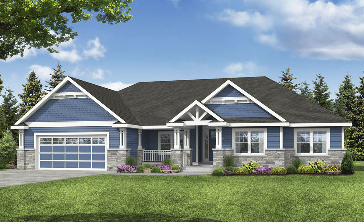 One Story Accessible Home Floor Plan