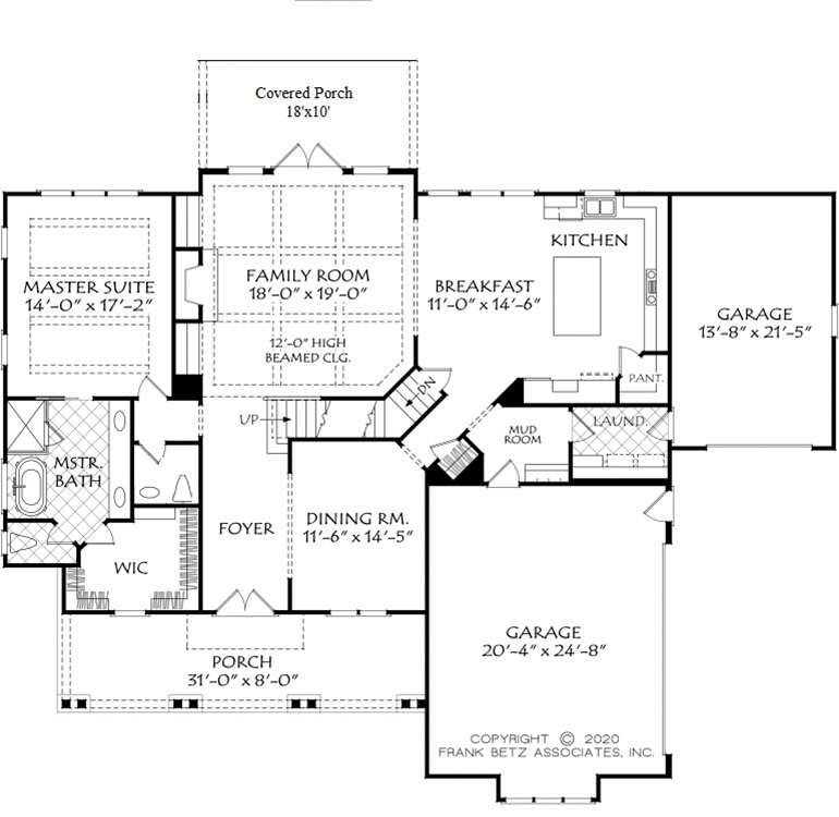 White Farmhouse with Downstairs Owner's Suite